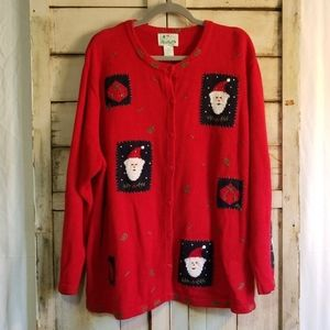 Vintage The Quaker Factory Ugly Christmas Sweater